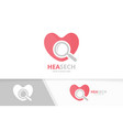 heart and loupe logo combination love and vector image vector image
