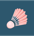 icon toy shuttlecock for badminton from bird vector image vector image