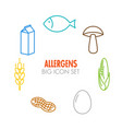 icons for allergens vector image