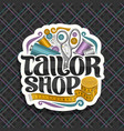 logo for tailor shop vector image vector image