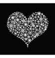 Love heart made from floral pattern vector image vector image