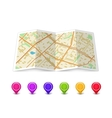 Map icon with Pin Pointers vector image vector image