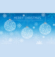 merry christmas banner snowflakes decorations card vector image
