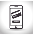 mobile design bank online icon vector image
