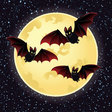 moonbats vector image