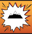 mountain sign comics style vector image