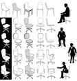 Office business chairs vector | Price: 1 Credit (USD $1)