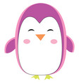 pink penguin on white background vector image vector image