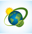 planet world sun energy environment clean vector image vector image