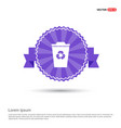 recycle icon - purple ribbon banner vector image