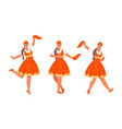 russian dance set vector image vector image