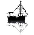 sailing boat silhouette vector image vector image