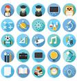 School Education Icons Set vector image vector image