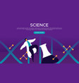 science concept web landing page template vector image vector image
