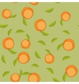 Seamless pattern with cartoon peaches Fruits vector image vector image