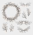 set branches vector image vector image