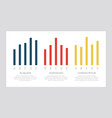 set dark blue and red yellow elements for info vector image vector image