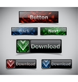 Set of color web buttons vector image