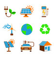 set of eco energy icon energy label for web on vector image vector image