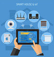 smart house and internet of things vector image