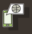 sticker unusual look dribbble social media icon vector image vector image