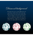 Stylish diamonds background vector image
