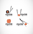 Sushi fish restaurant logo