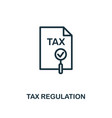 tax regulation icon creative element design from vector image