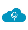 thin line cloud sound icon vector image vector image