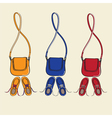 Trendy shoes and matching handbags vector image