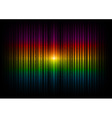 v horizontal lines abstract rainbow dark vector image vector image