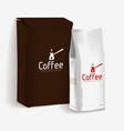 vacuum package of coffee vector image vector image