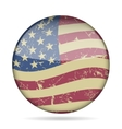 vintage button waving flag of USA - grunge style vector image