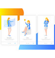 women landing page for app vector image