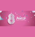 womens day 2018 fun celebration banner design vector image vector image