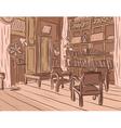 Wooden room vector image vector image
