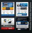 website set vector image