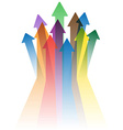 colorful arrows to success vector image