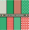 Set of Italia Independence day patterns vector image