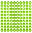 100 plane icons set green circle vector image vector image