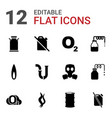 12 gas icons vector image vector image