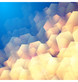 Abstract background with hexagonal elements vector image vector image
