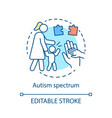autism spectrum disorder concept icon vector image vector image
