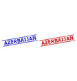 azerbaijan stamps with grunge texture and parallel vector image vector image