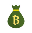bag with bitcoin currency digital symbol vector image