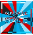 Big ice sale poster with CLEARANCE SALE text vector image vector image