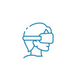 blindfold games linear icon concept blindfold vector image
