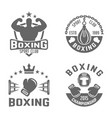 boxing and martial arts black labels vector image vector image