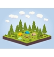 Campsite in the woods vector image vector image
