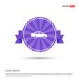 car icon - purple ribbon banner vector image